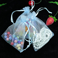 Wholesale 100pcs/lot,Drawable Light Blue Large Organza Bags 20x30 cm, Favor Wedding Gift Packing Bags,Packaging Jewelry Pouches