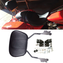 Detachable Gloss Black Sissy Bar with Passenger Backrest Pad and 4-Point Docking Hardware Kit for Harley Davidson Touring