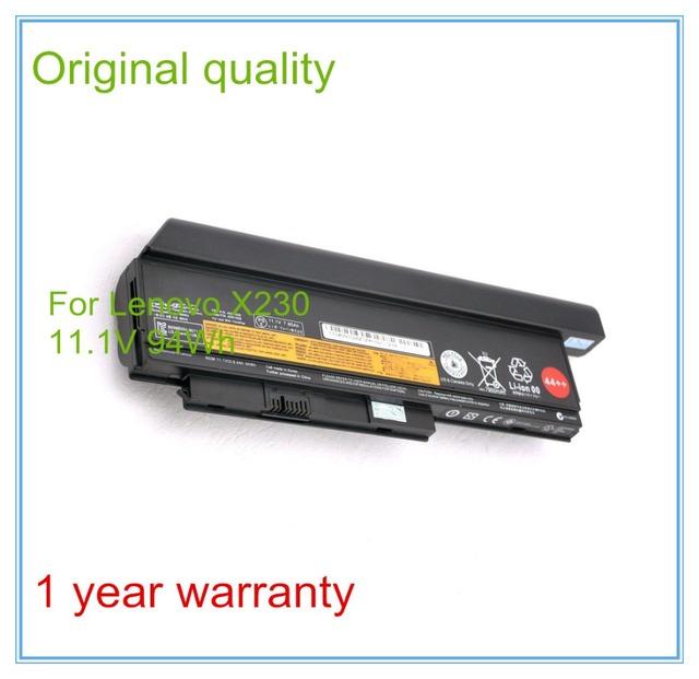 11.1 V 94WH Originais Nova Bateria Do Portátil para X230 X230I 45N1029 45N1028 45N1172 45N1022 9 CÉLULA 44 ++