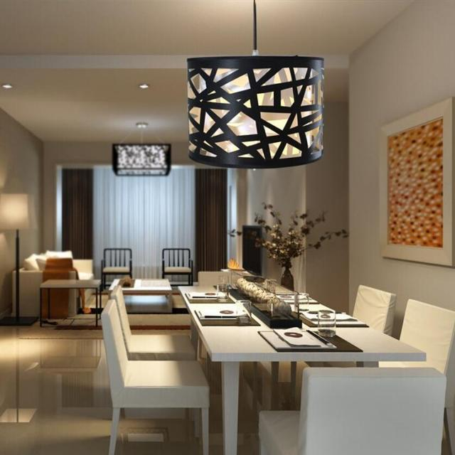 Moderno minimalista lámparas de techo comedor E27 iluminación de ...