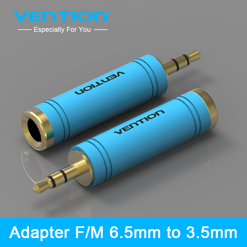 Vention 3.5mm Male <font><b>to</b></font> 6.5 mm Female <font><b>Adapter</b></font> <font><b>3.5</b></font> plug <font><b>to</b></font> <font><b>6.35</b></font> Jack Stereo Speaker Audio <font><b>Adapter</b></font> converter for Mobile Phone PC 1PC image