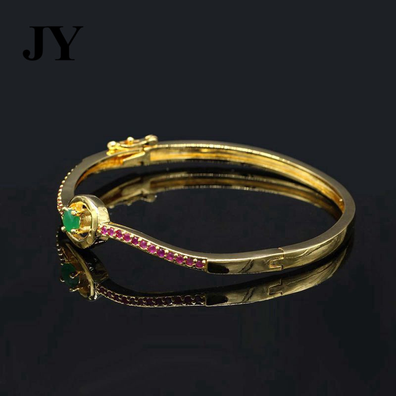 mango online size uncut red bangles colour stone flowers two with stones plated green finish lines design buy cz bangle gold