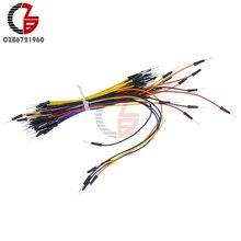 1 Упак. 65 шт. мужчин и мужчин без пайки гибкий Макет соединительный кабель Провода для Arduino