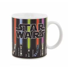 Звездные войны Цвет Изменение кофе кружки световой меч керамические чашки и кружки волшебный знак посуда для напитков