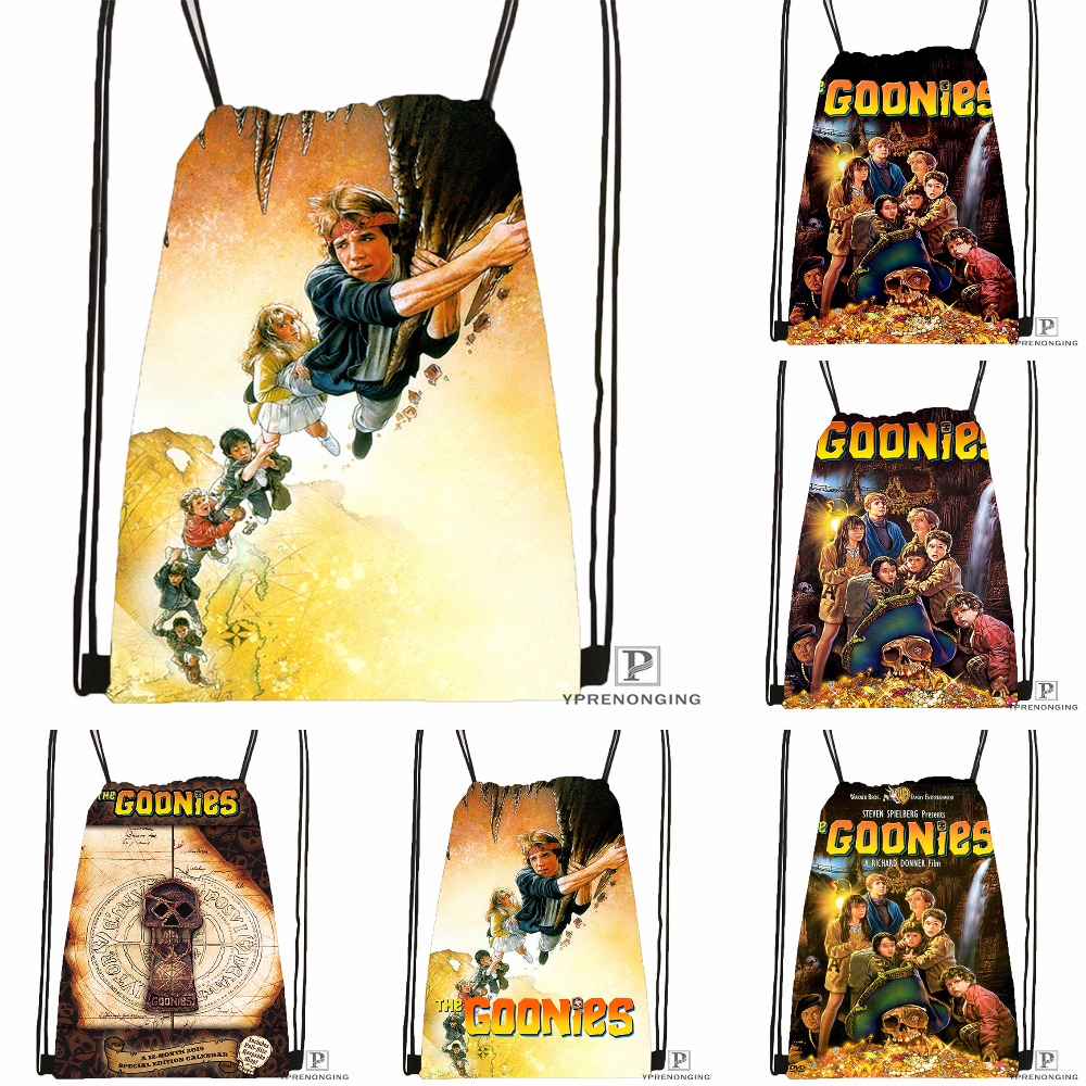 Custom the Goonies Drawstring Backpack Bag for Man Woman Cute Daypack Kids Satchel Black Back 31x40cm