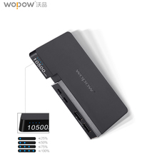 WOPOW S10 10500mAh Power bank USB Quick Charge Powerbank Lithium polymer external battery Ultrathin Portable charge battery