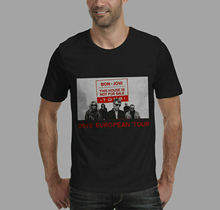 New BON JOVI 2019 EUROPEAN TOUR WITH DATES T-SHIRT  Men T Shirt Great Quality Funny Man Cotton cathy hopkins mates dates and great escapes