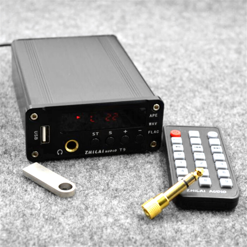 ZHILAI T9 USB lossless music APE player supports coaxial fiber output Digital audio decoder With headphone amplifier one machine smal a6 hifi digital amplifier 50wx2 dac digital 110v 220v native dsd512 usb optical coaxial lp player cd analog input