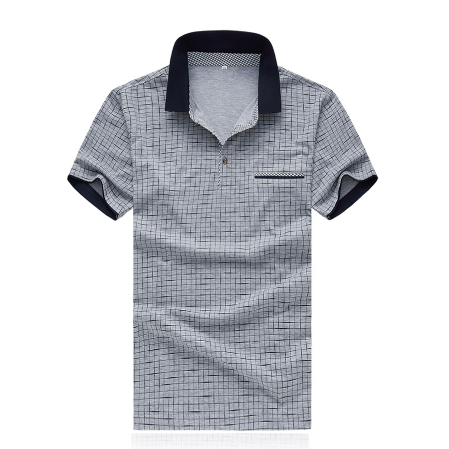font b Men b font Plaid font b Polo b font Shirts Summer Short Sleeve