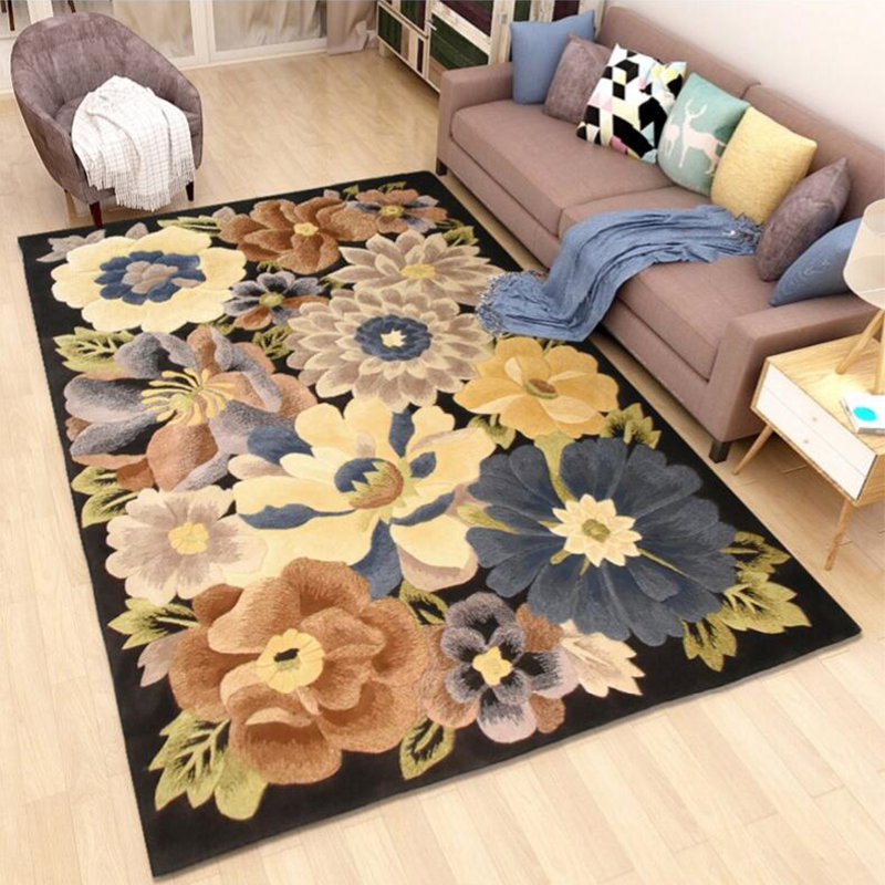 100% Wool European Modern Carpets For Living Room Customize Large Bedroom Area Rugs Alfombras Coffee Table Sofa Floor Rug Mat