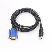 החדש 1.8 M כבל HDMI ל vga מתאם דיגיטלי 1080 P HD עם אודיו ממיר מתאם HDMI VGA מחבר כבל עבור טלוויזיה תיבת 0508