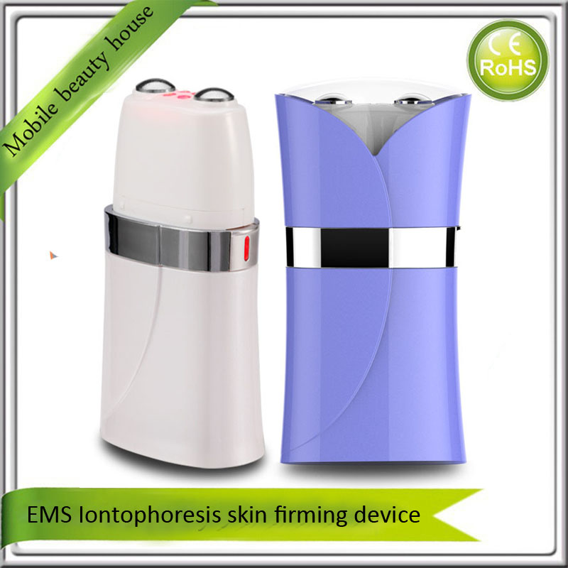 Rechargeable EMS Stimulator Iontophoresis Nutrient Import  Skin Firming Face Lifting Slimming Tightening Beauty Instrument electric iontophoresis red led light photon therapy ems microcurrent face lifting skin tightening facial tonner beauty device