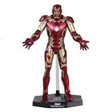 Avengers Iron Man Mark XLII MK42 Briller Avec LED Lumière PVC Assembler 30 cm/12 «(1/6 Échelle) Collection Modèle Jouet DC008083