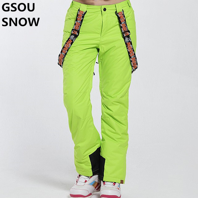 d53b4cd8b187 Gsou Neige Femmes Pantalons De Neige D hiver Imperméable Thermique Ski  Pantalon Femmes Snowboard Plein
