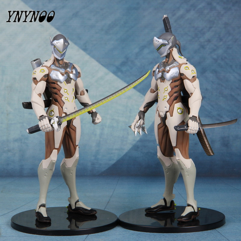 YNYNOO Anime OW Action Figure Project D.va Watching Pioneers Shimada Genji Set Ation & Toys Figure For Collection Enthusiasts dva genji reaper mccree tracer shimada hanzo 76 action figure model toys ow watch and over d va halloween cosplay props ninja
