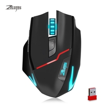 ZELOTES F18 Dual-mode 2.4GHz Wireless Gaming Mouse 3200DPI 7-color Backlit Wired Mouse Mice for PC Laptop Mouse Gamer
