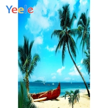 Yeele Tropical backdrops for photographic studio green palm tree tropical sand beach sea summer backgrounds fotografia photo стоимость