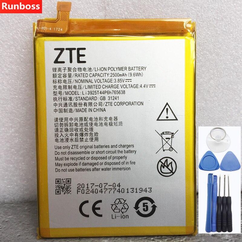 Original New Li3925T44P6h765638 2500mAh Battery For ZTE BLade V8 Lite 5.0-inch Mobile Phone Batteries + Tools