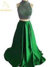 Женское вечернее платье трапеция с кристаллами qa1176