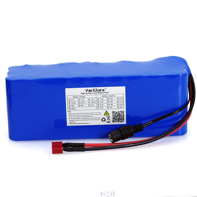 VariCore 36V 10000mAh 500W High Power and Capacity 42V 18650 Lithium Battery Motorcycle Electric Car Bicycle Scooter with BMS aerdu 10s3p 36v 7 5ah high power capacity 42v 18650 lithium battery pack ebike electric car bicycle motor scooter with 15a bms