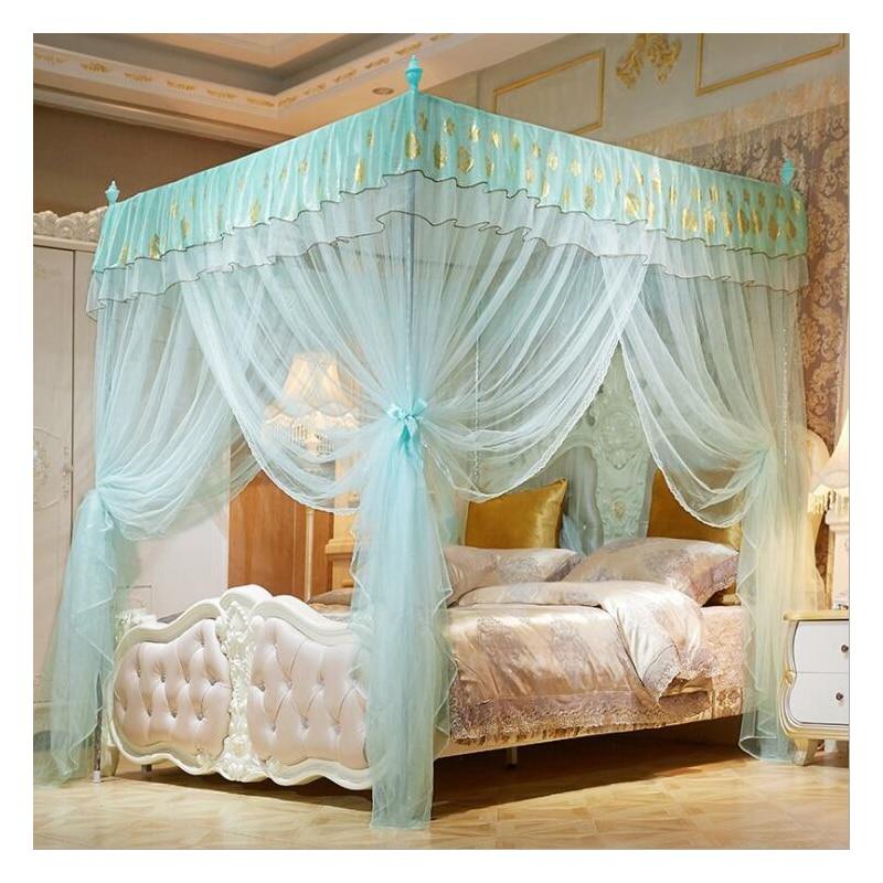 Rideau de lit dentelle insecte lit auvent filet auvent dôme Polyester literie moustiquaire meubles 3 portes ouvrir literie filet