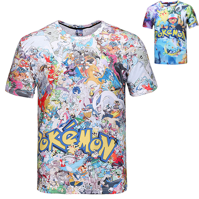 buy pokemon go t shirt for teens boys 3d print eevee collage shirt pikachu. Black Bedroom Furniture Sets. Home Design Ideas