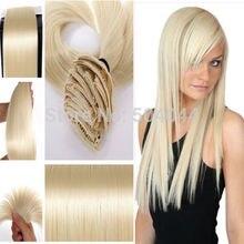 24 «(60 cm) 7 unids set120g-125g #613 blonde Larga Recta Pelo Sintético Clip en extensiones de cabello