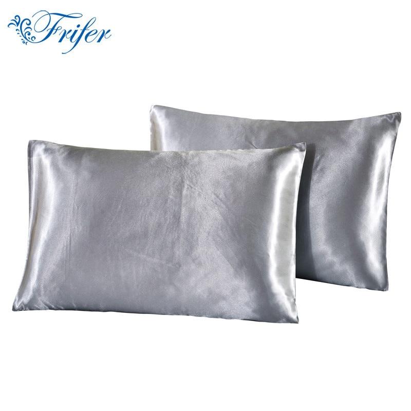 Silk Pillow Case Solid Color Double Face Envelope