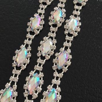 10Yards Oval Rhinestone Trim Crystal Appliqued 888 Stone DIY Crafts Accessories Decoration