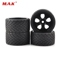 4pc/set 17mm Hex 1:8 RC monster trucks on road wheels 139mm 70mm tires tyre for racing rally cars toy accessories parts