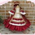 Святого Валентина Dayrefinement BJD MSD 1/4 детская одежда Дворец с роскошной ткани принцесса платье 2 на складе