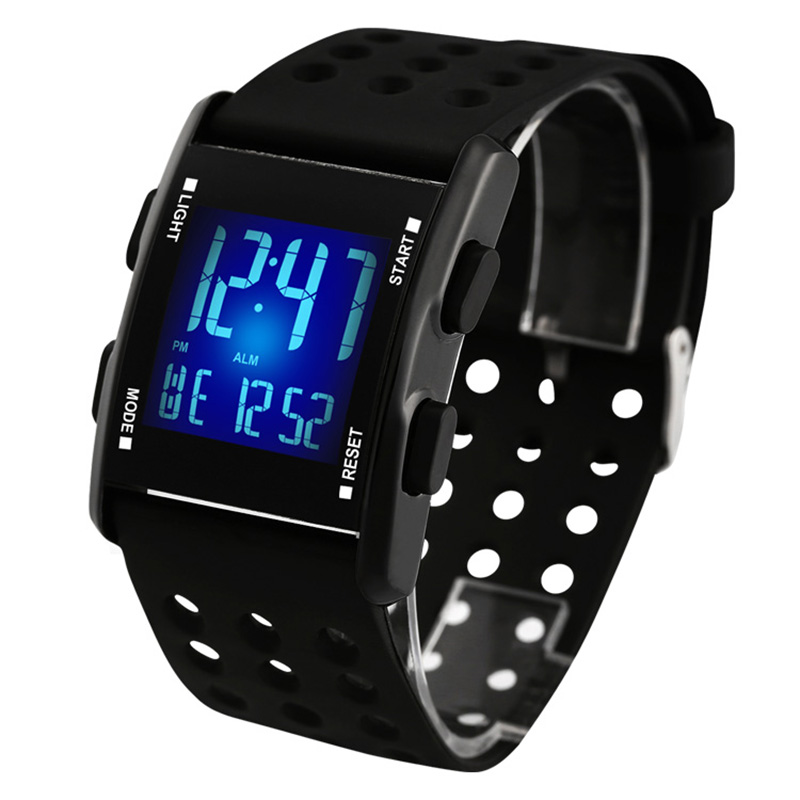 sports electronic smael watch digital gift man time quartz clock display wristwatch zone watches waterproof in from s men item multi male led
