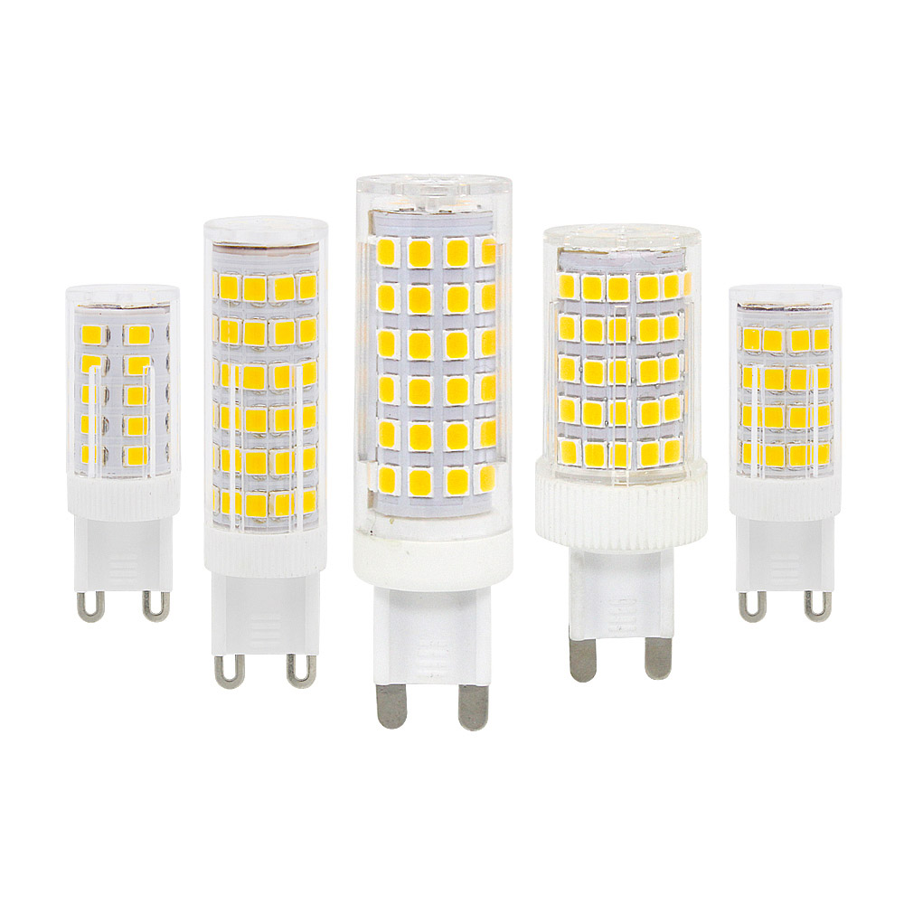 3W 4w 5W 8w 10W AC 220V G9 LED Light Bulb Ceramics Base Lamp Highlight SMD2835 360 Degrees For Pendant Light Source