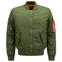 Army Green Men Flight Jacket Air Force One Military Bomber Jacket Plus Size 5XL Brand Clothing
