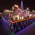 Al aire libre 16 m 200 LED Fiesta de Navidad de Secuencia de Hadas de Luz A Prueba de agua de Energía Solar Jardín Iluminación de La Decoración