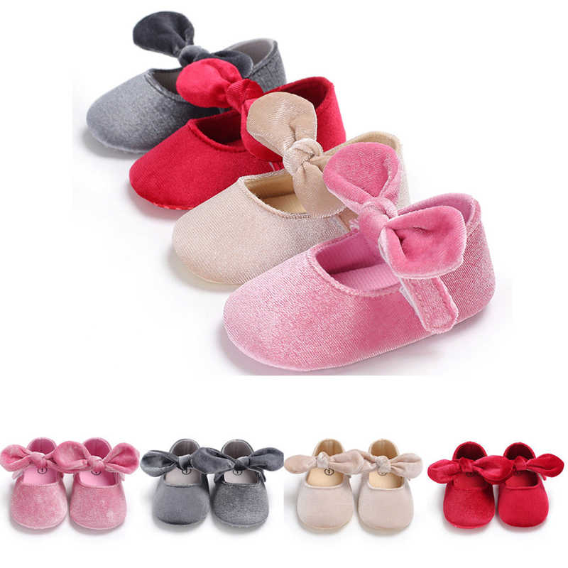 a66c11de524b1 New Infants Newborn Baby Girl Boys Lovely Casual Soft Crib Shoes Solid  Bowknot Kook Soft Sole Shoes Outfit 0-18M