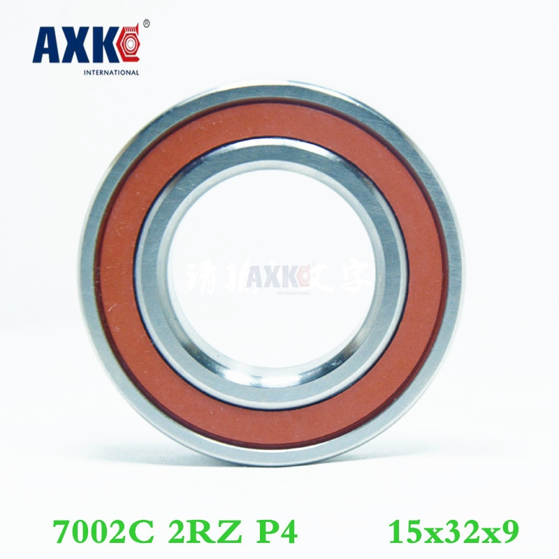 Axk 1pcs 7002 7002c 2rz P4 15x32x9 Sealed Angular Contact Bearings Speed Spindle Bearings Cnc Abec-7 1pcs axk 7010 h7010c 2rz hq1 p4 50x80x16 sealed angular contact bearings ceramic hybrid bearings speed spindle bearings cnc
