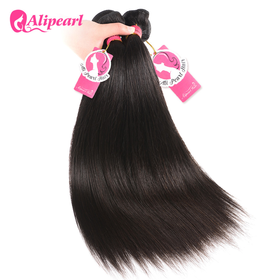 HTB1CvAHhfiSBuNkSnhJq6zDcpXaZ AliPearl Hair Straight Human Hair 3 Bundles With 5x5 Closure Brazilian Hair Weave Bundles Natural Color Remy Hair Extension