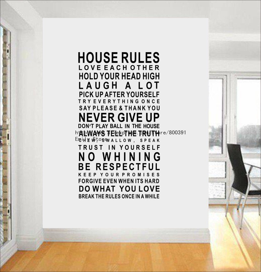 Free Shipping Popular New 120cm60cm Art Words Motto Poem House