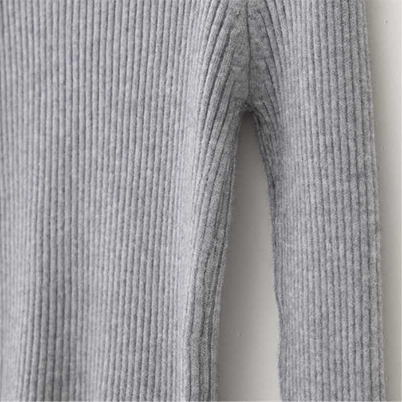 秋/Wintern 厚いソフトタートルネック女性のセーターの女性無地野生ニットファム底入れ女性高弾性