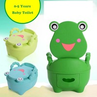 Cartoon Baby Plastic Toilet Girls Boy Portable Potty Seat Folding Chair Cute Drawer Training Potty Children's Toilet Ring Pinico