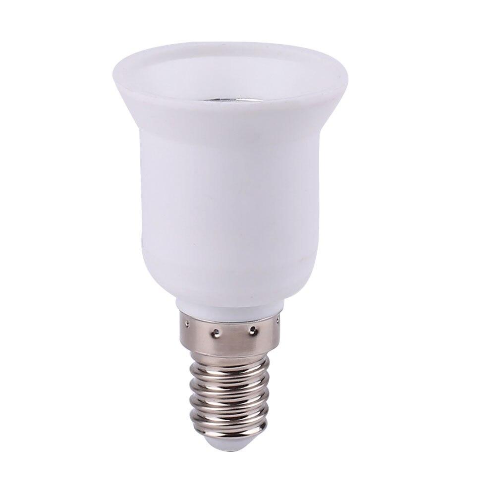 E14 для E27 лампа держатель конвертеры разъем адаптера белый AC220-230V