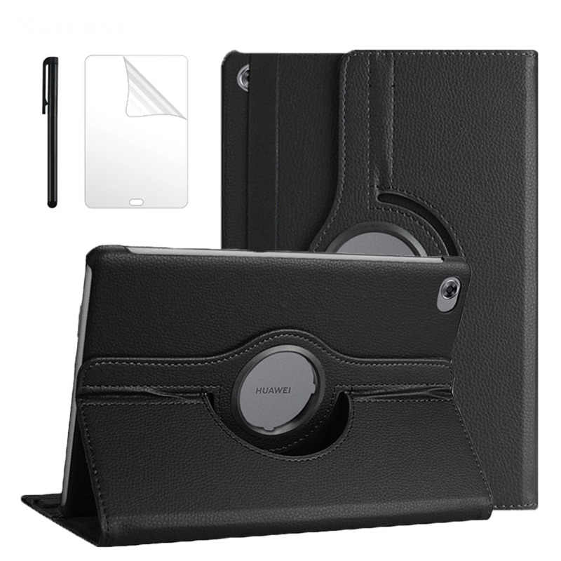 360 Rotating Case For Huawei Mediapad M5 Lite 10 BAH2-W19/L09/W09 10.1 Tablet Stand Cover For Huawei M5 lite 10 Case + Film Pen