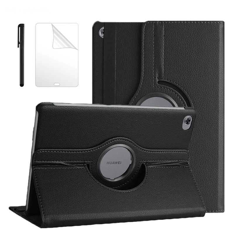 360 Rotating Case For Huawei Mediapad M5 Lite 10 BAH2-W19/L09/W09 10.1 Tablet Stand Cover For Huawei M5 Lite 10 Case + Film Pen