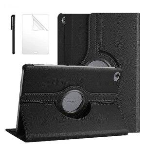 360 Rotating Case For Huawei Mediapad M5 Lite 10 BAH2-W19/L09/W09 10.1 Tablet Stand Cover For Huawei M5 lite 10 Case + Film Pen(China)