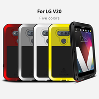 New Arrival FOR LG V20 LOVE MEI Ultra Armored Aluminum Water Dirt Shock Snow Proof Cover