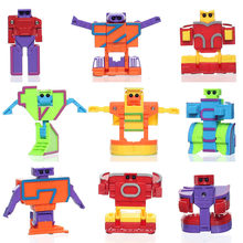 15pcs/set Alphabet Robots Transformation letters child educational early learning Education 5.5cm talented plus Puzzle toy(China)