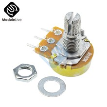 B1K B2K B10K B20K B50K B250K B1M 20mm 6 Pins Einzelne-Stereo-Potentiometer Widerstand Poti Potentiometer Mit welle Split für WH148