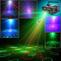 SUNY 3 Lens 24 Pattern Club RG Laser BLUE LED Stage Lighting Home Party 140mw Professional Projector illumination DJ Light Disco