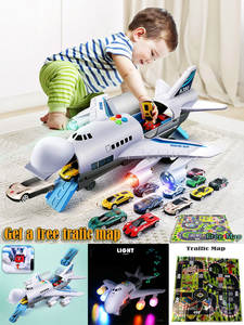 Track Children's Aircraft Plane Kids Airliner Toy Car